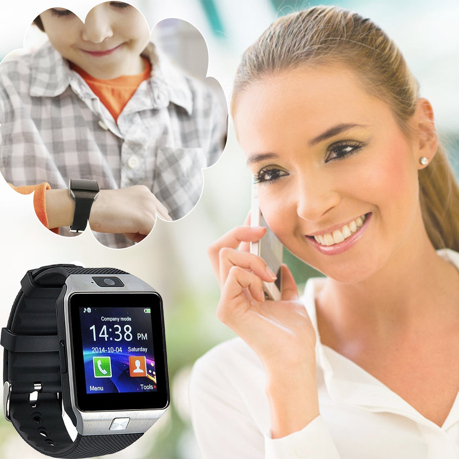 71OGwGaSPL. SL1500  - Smart Watch DZ09 For Android Devices