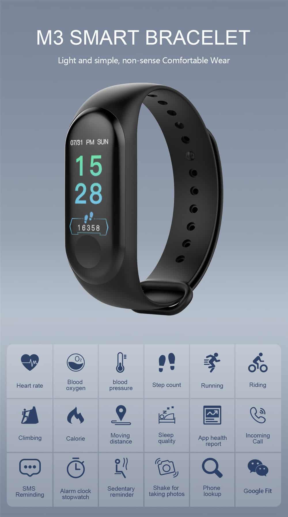 M3 band - M3 Smart Fitness Band
