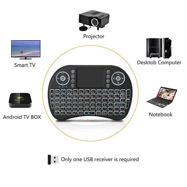 Mini wireless keyboard for Android smart TV 2 600x600 - Mini Wireless Keyboard Mouse Remote For Smart Tv Box