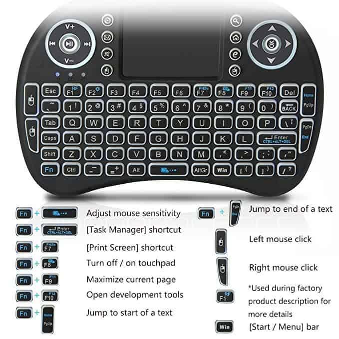 H96 Max Smart TV BOX With i8 Mini Wireless Keyboard 3