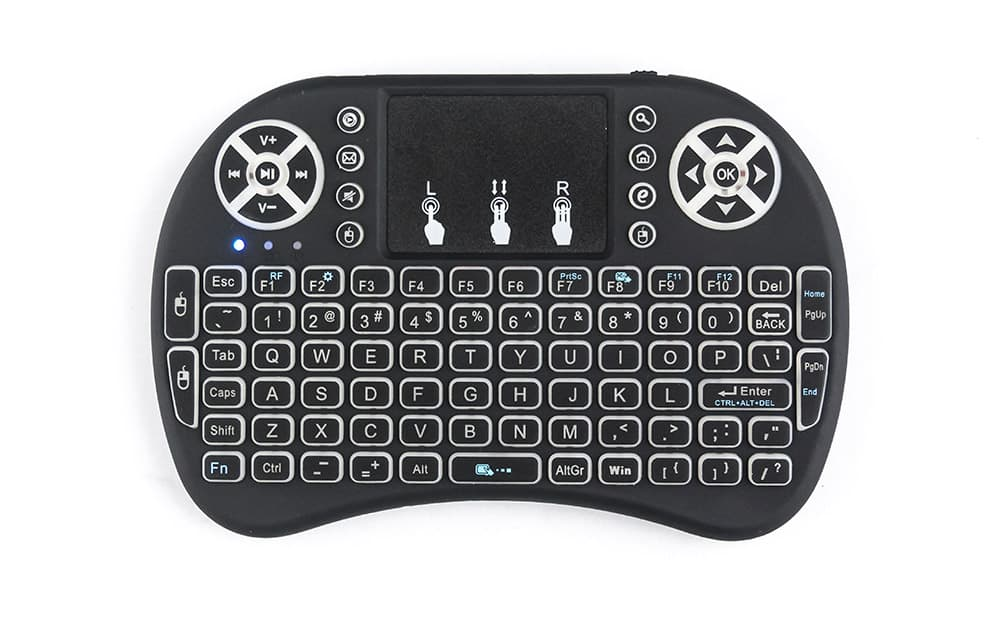 Touch-Pad RF500 Mini Wireless Keyboard Mouse Remote With 3 Color Backlight 5