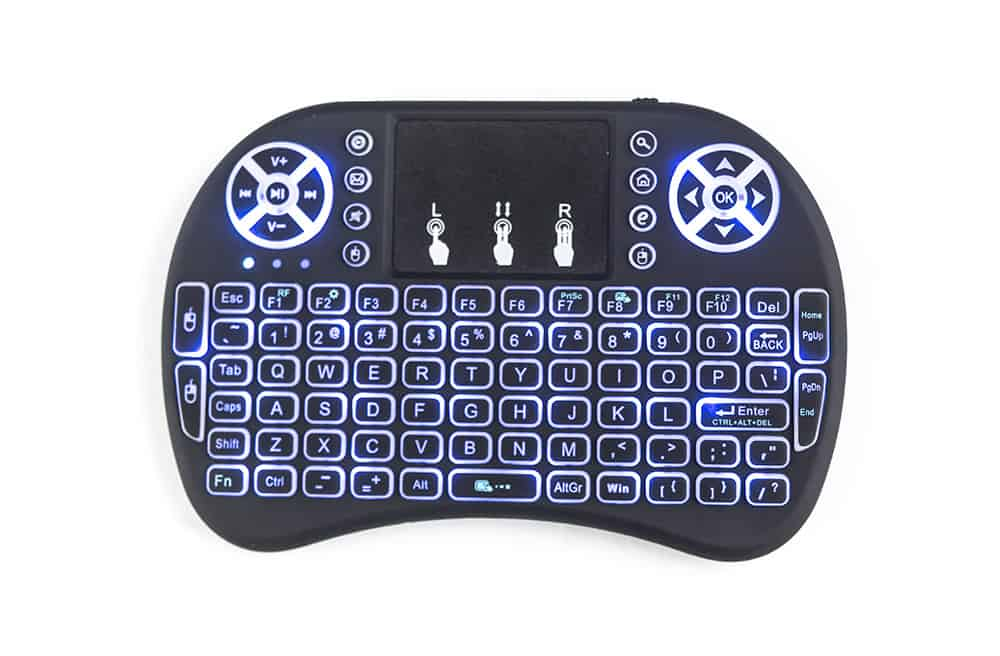 Touch-Pad RF500 Mini Wireless Keyboard Mouse Remote With 3 Color Backlight 3