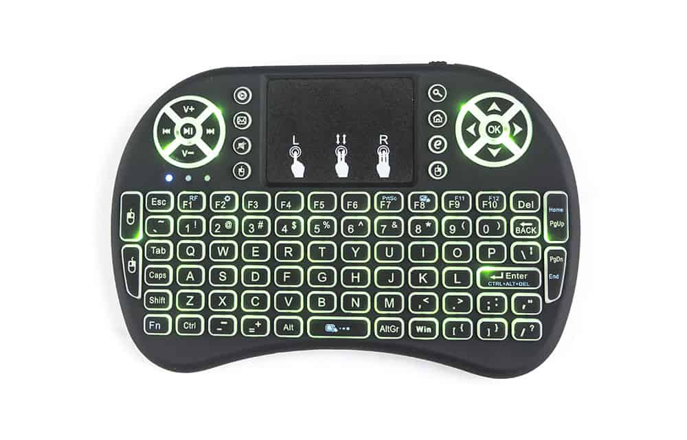 Touch-Pad RF500 Mini Wireless Keyboard Mouse Remote With 3 Color Backlight 4