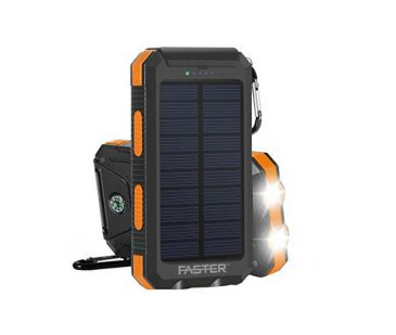 Faster SP-10 Solar Plus LED Power Bank 10000 mAh