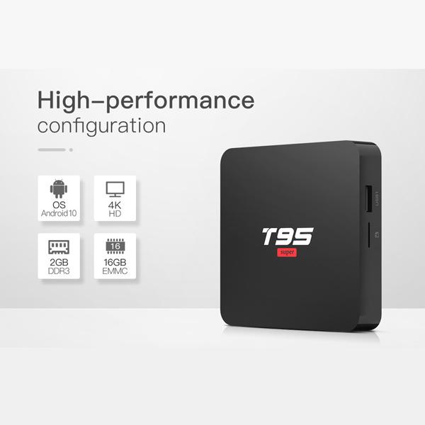 T95 Super Android 10.0 Smart TV BOX 2GB (DDR3) RAM 16GB ROM Quad Core 1.5GHz 2