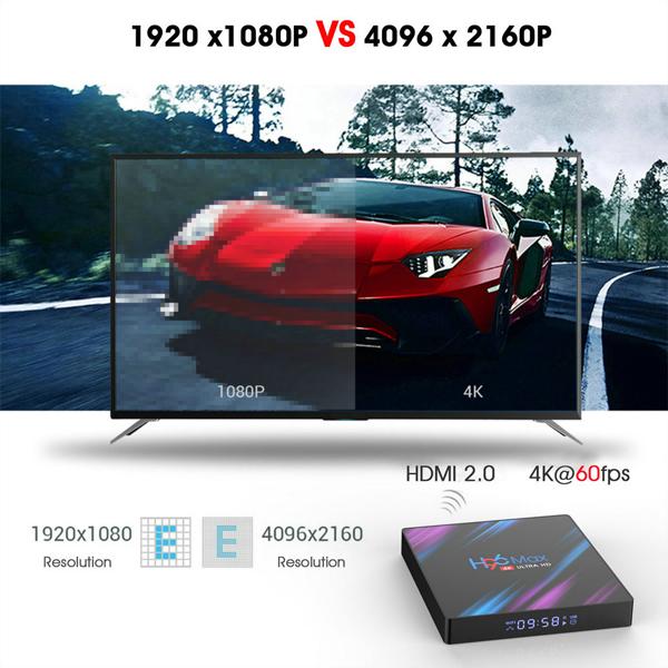H96 Max Android 9.0 Smart TV BOX 4GB RAM 32GB/64GB ROM RK3318 Quad-Core 64bit Cortex-A53 6