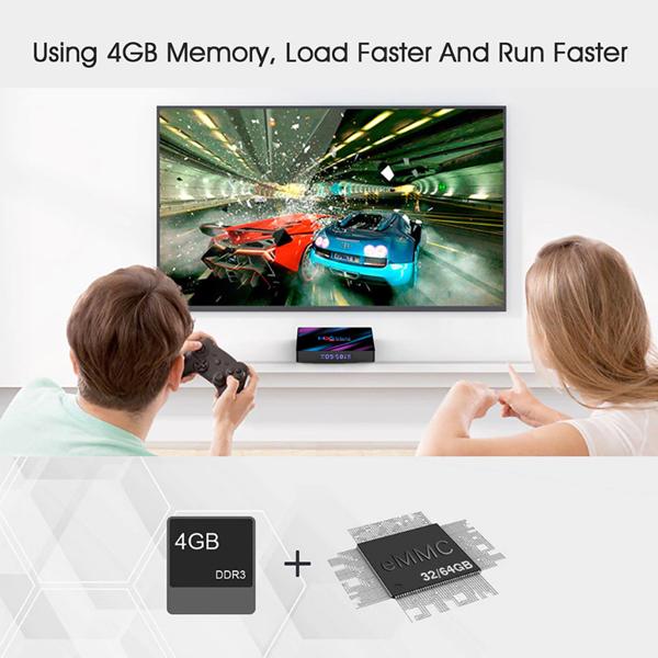 H96 Max Android 9.0 Smart TV BOX 4GB RAM 32GB/64GB ROM RK3318 Quad-Core 64bit Cortex-A53 1