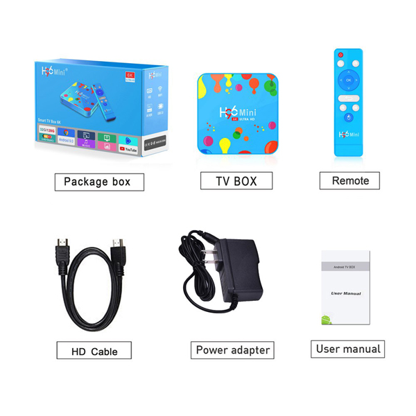 H96 Mini Android 9.0 Smart TV BOX 4GB RAM 32GB ROM 6K 4