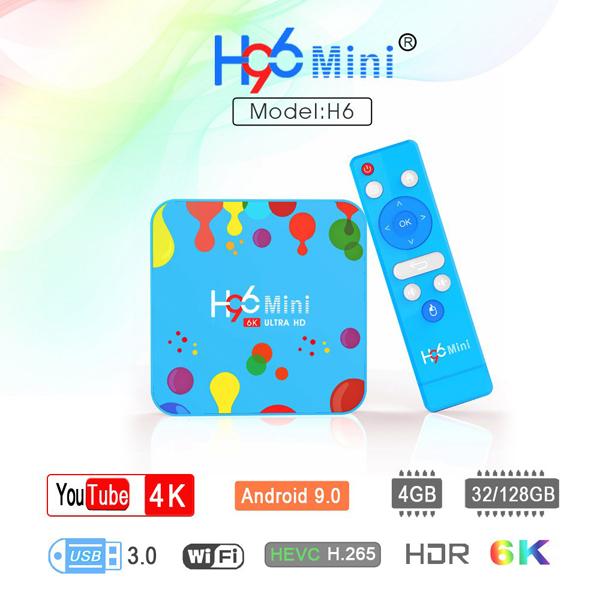 H96 Mini Android 9.0 Smart TV BOX 4GB RAM 32GB ROM 6K 5