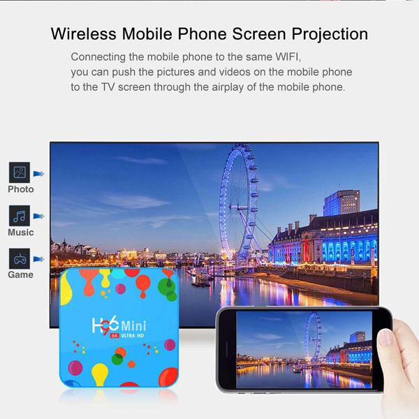 H96 Mini Android 9.0 Smart TV BOX 4GB RAM 32GB ROM 6K 7