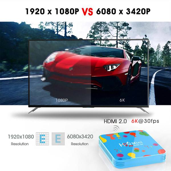 H96 Mini Android 9.0 Smart TV BOX 4GB RAM 32GB ROM 6K 8