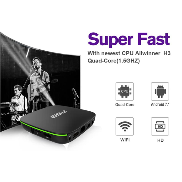 R69 Android 7.1 Smart TV BOX 2GB RAM 16GB ROM Quad Core 1.5GHz 1