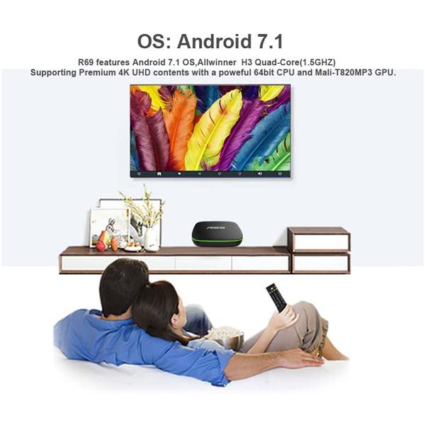 R69 Android 7.1 Smart TV BOX 2GB RAM 16GB ROM Quad Core 1.5GHz 2